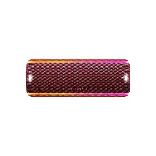 Sony SRSXB31R Altavoz portátil Bluetooth Extra Bass Modo Sonido Live Party Booster Luces de Fiesta llamativas Conector USB para Cargar Smartphone Color Rojo