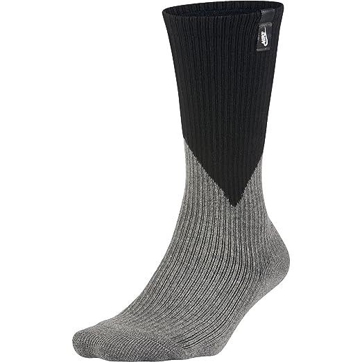 c99c34ef72 Nike LAB Essentials Crew Socks-Black/Dark Heather Grey-Large at ...