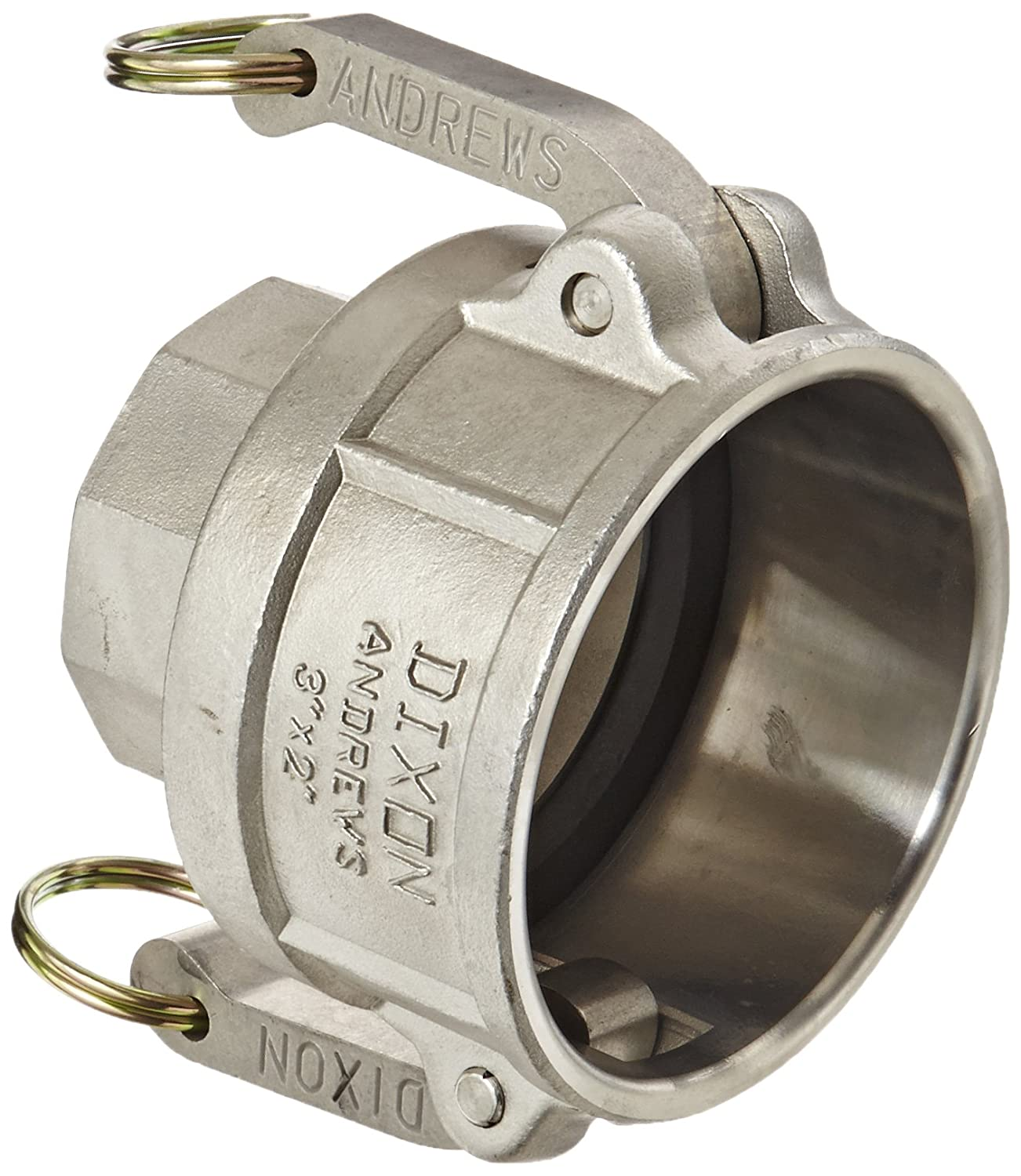 3 Socket x 2 NPT Female 3 Socket x 2 NPT Female Dixon Valve /& Coupling Dixon 3020-D-SS Stainless Steel 316 Type D Cam and Groove Reducing Hose Fitting