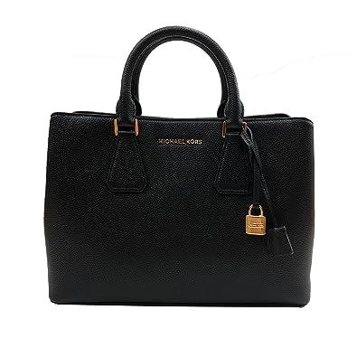 b14289373317 Amazon.com  Michael Kors Camille Bag Large Satchel Leather Black  (35S8GCAS3L)  Shoes