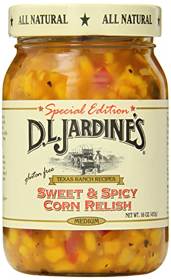 D.L. Jardines Sweet and Spicy Corn Relish, Medium, 16 Ounce