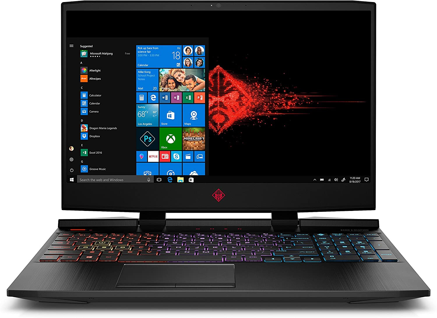 Omen by HP 2019 15-Inch Gaming Laptop, Intel i7-9750H Processor, GeForce RTX 2070 8 GB, 32 GB RAM, 512 GB SSD, VR Ready, Windows 10 (15-dc0030nr, Black)