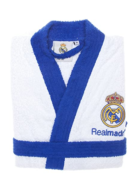 Real Madrid C.F. Albornoz Escudo Bordado Blanco M  Amazon.es  Ropa y  accesorios d59a760d5fa55