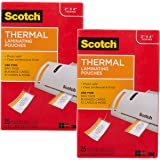 Scotch (50 Count) 3M Thermal Laminating Pouches Business Card Size Luggage Tag Laminates