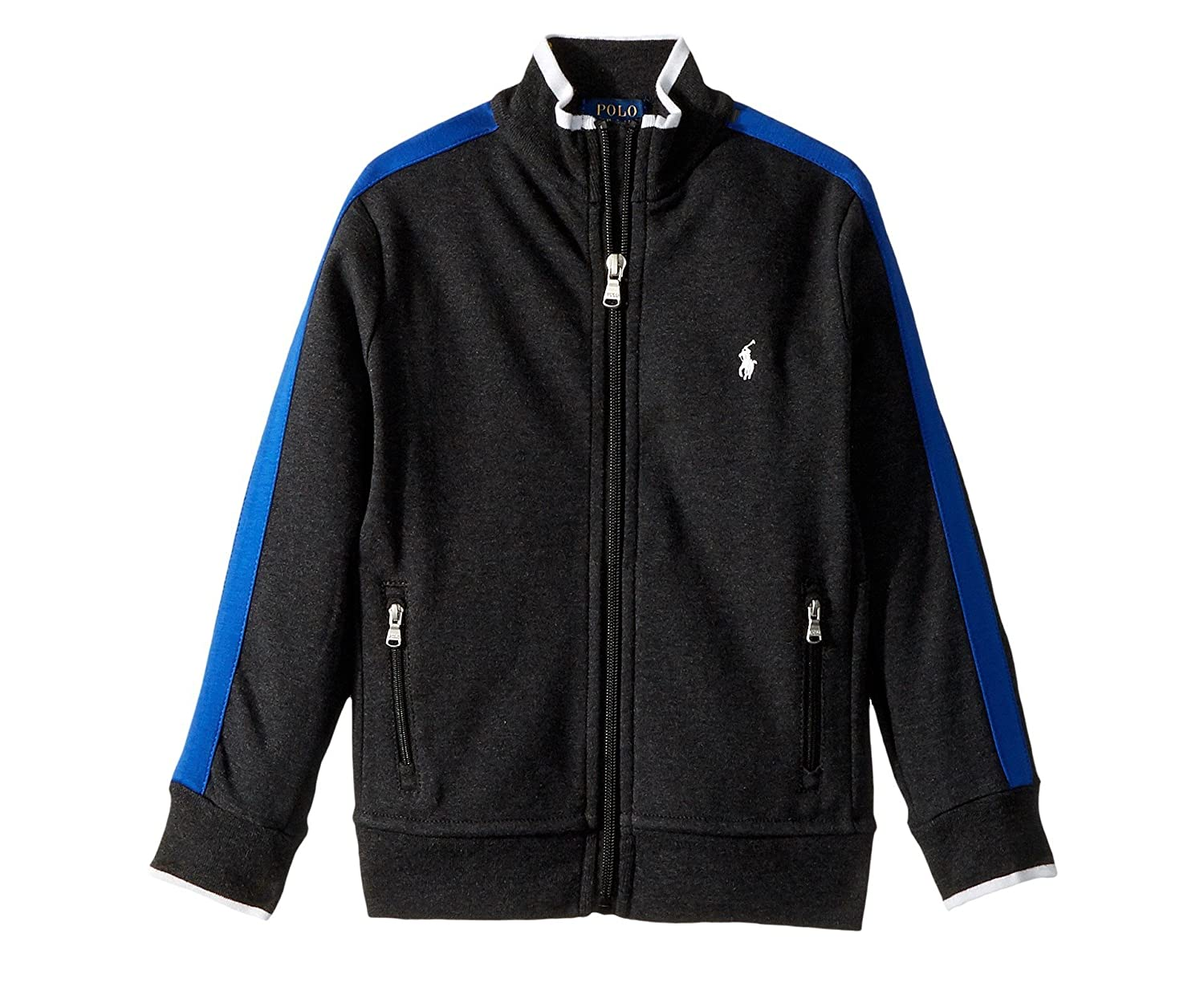 Polo Ralph Lauren Boys Cotton Track Jacket Small Dark Granite 8 yrs