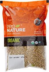 Pro Nature 100% Organic Coriander Whole, 500g