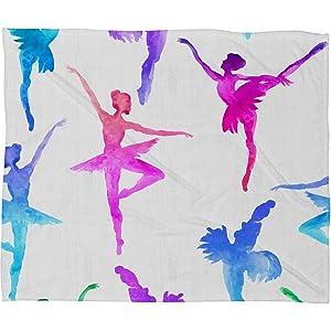 Deny Designs Dash and Ash Fleece Blanket, Ballerina Ballerina