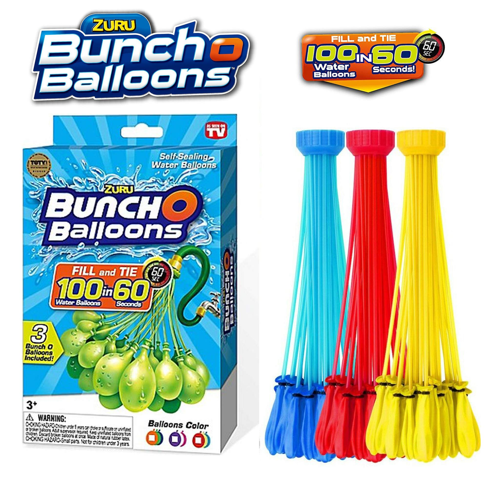 Self-Sealing Water Balloons Color Vary 2 Pack - 200 Total Water Balloons