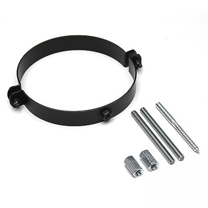 Raik SH116 - 150-SW gartinex/estufa 150 mm - abrazadera negro: Amazon.es: Bricolaje y herramientas