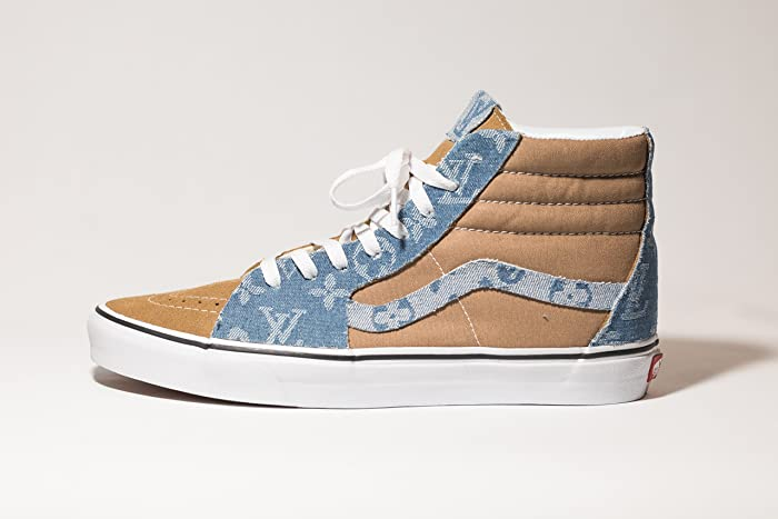 17cf0f9846 Amazon.com  Vans Sk8-HI Custom LV x Sup Denim Edition available in all  sizes  Handmade