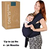 Baby Sling Carrier - Cotton Nursing Moby Wrap For Newborn | Infant Carrier | Toddler Moby Wrap | Breastfeeding Sling Baby Carriers - Nice Baby Shower Gift For Boys and Girls