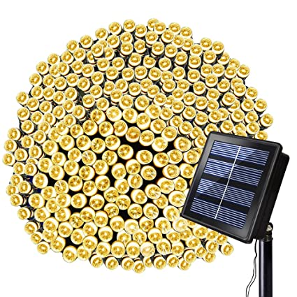 Solar String Lights   Solarmks 8 Modes Christmas Decoration Solar Lights 72  Ft 200 LED Fairy