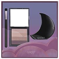 Ghost Deep Night Eau de Toilette Spray, Eye Shadow Pallet and Makeup Brush Gift Set