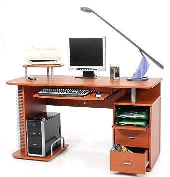 Scrivania Ciliegio Pc.My Office Scanner Portacomputer Ciliegio 140x57x77 Cm
