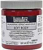 Liquitex Professional Soft Body Pot de Peinture acrylique fluide 237 ml Alizarine cramoisie permanent Imitation
