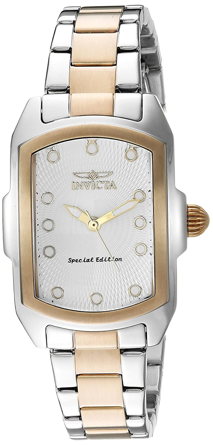 Amazon.com: Invicta Women's 'Lupah' Quartz Stainless Steel Casual Watch,  Color:Two Tone (Model: 16285): Invicta: Watches