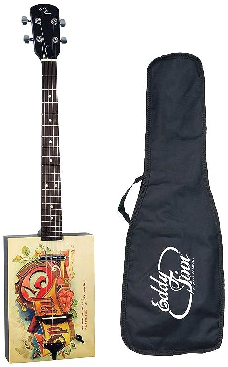 Eddy Finn - Caja de cigarros con bolsa para guitarra acústica eléctrica