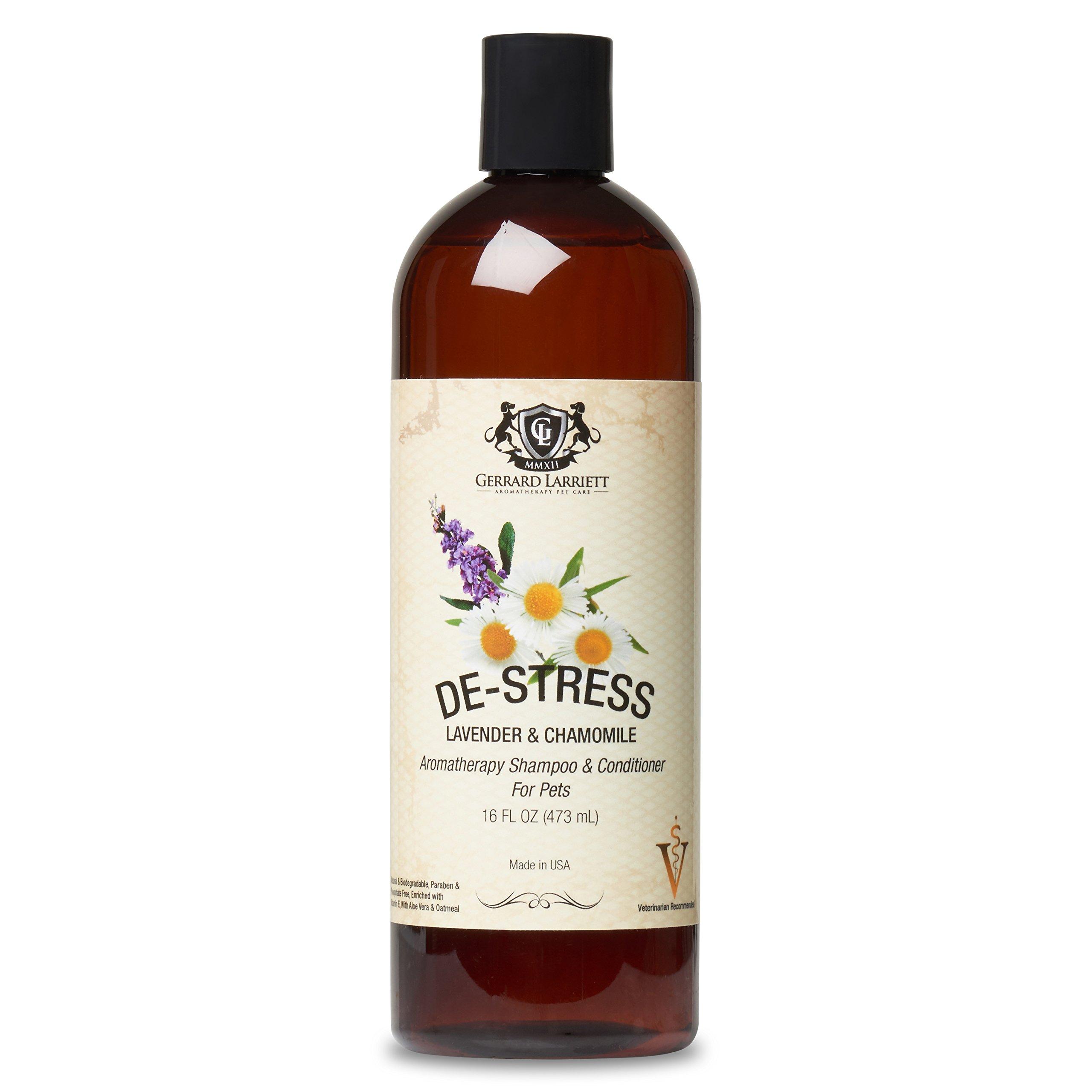Lavender & Chamomile Aromatherapy Shampoo & Conditioner For Pets, Medicated, Whitening, Oatmeal Dog Shampoo & Pet Odor Eliminator, 16 oz