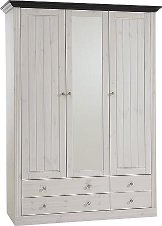 Steens Kleiderschrank Monaco Landhaus, 3 Türen und 3 Schubladen, 145 ...