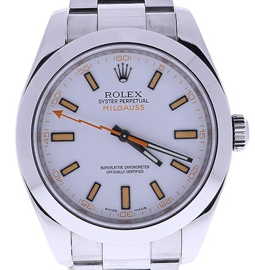 Rolex Milgauss automatic-self-wind Mens Reloj 116400 (Certificado) de segunda mano