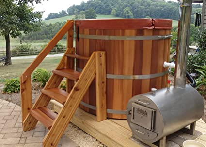 Amazon.com : Complete Wood Fired Hot Tub - 4 person : Garden & Outdoor