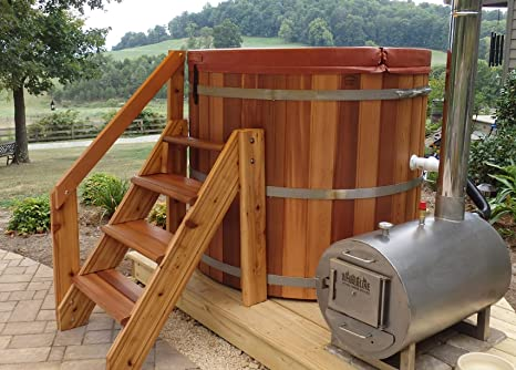 Complete Wood Fired Hot Tub 4 Person Amazon Ca Patio