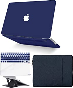 "KECC Laptop Case for MacBook Pro 13"" (2020,Touch Bar) w/Keyboard Cover + Sleeve + Screen Protector + Laptop (5 in 1 Bundle) Hard Shell A2289/A2251 (Matte Navy)"