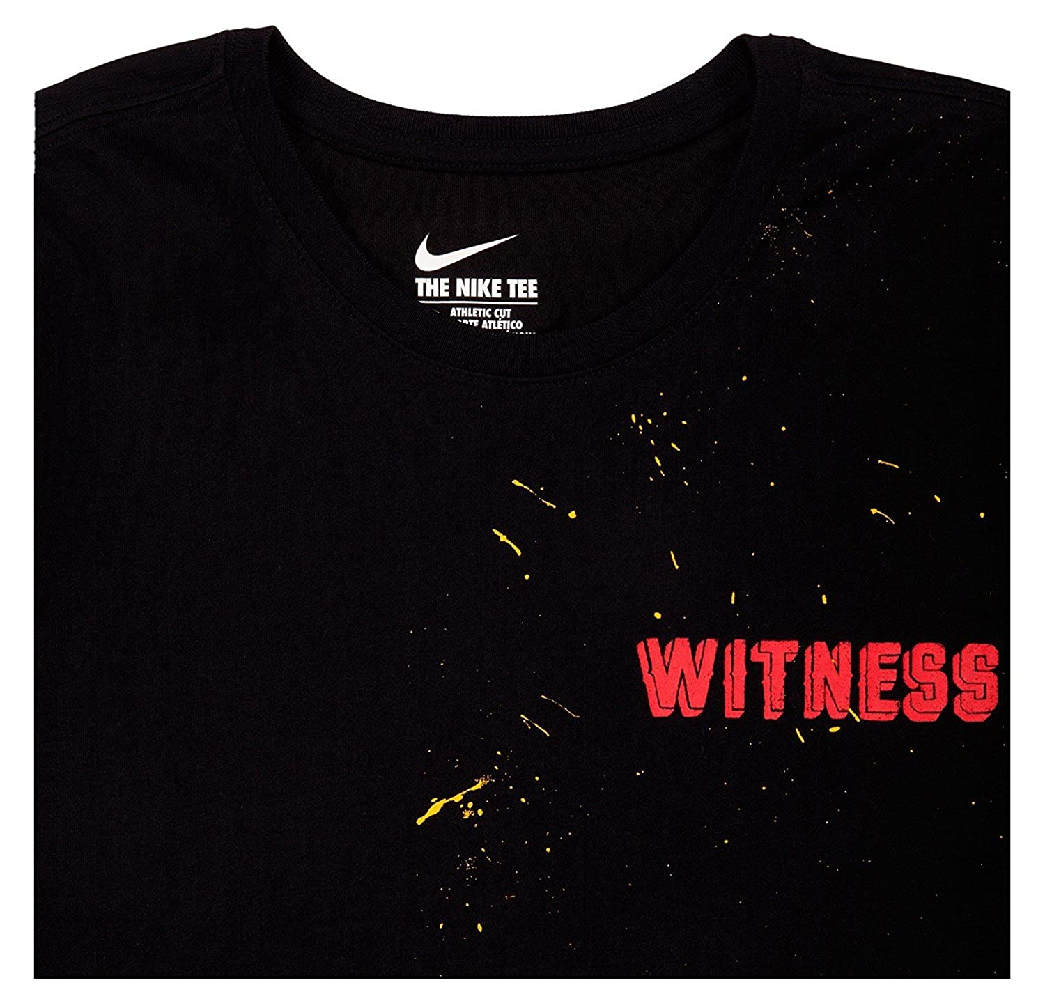 79a21ec6 Amazon.com: Size 3XLarge Men's Nike Witness Tee 802665 010 Black Red  everyday wear: Sports & Outdoors