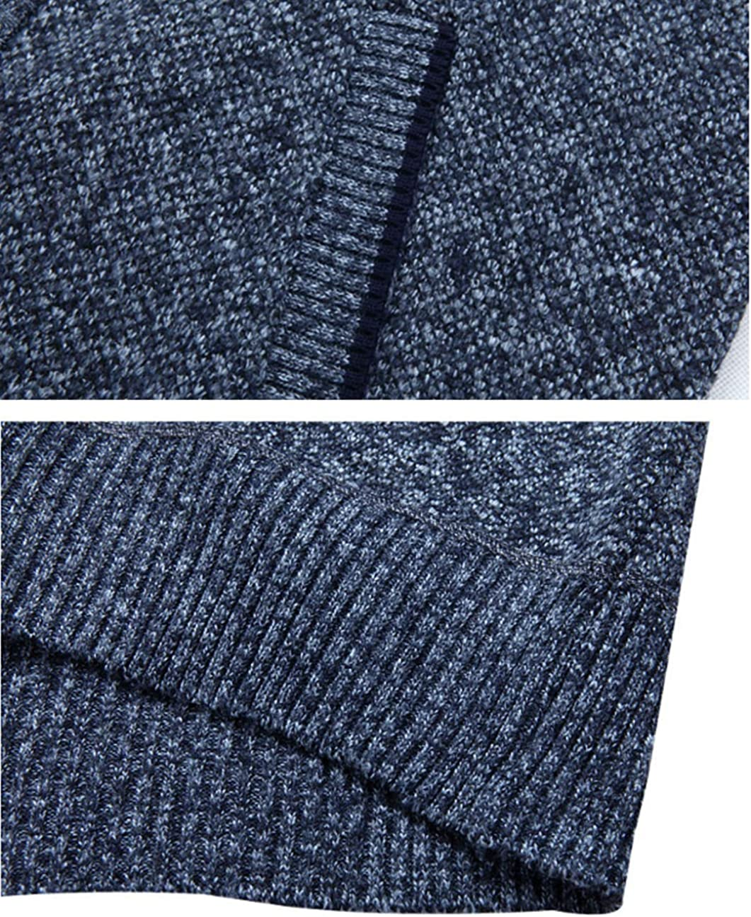 Vcansion Mens Classic Soft Thick Knitted Cardigan Sweaters Long Sleeve Full zip