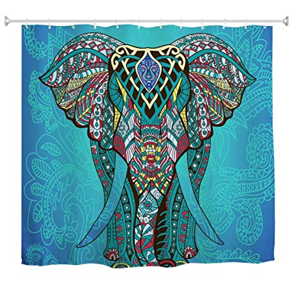 Amazon Elephant Shower Curtain By Goodbath Waterproof And