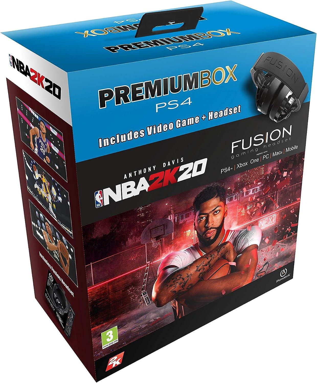 Pack: NBA 2K20 + Auricular PowerA Fusion estereo negro (PS4 ...