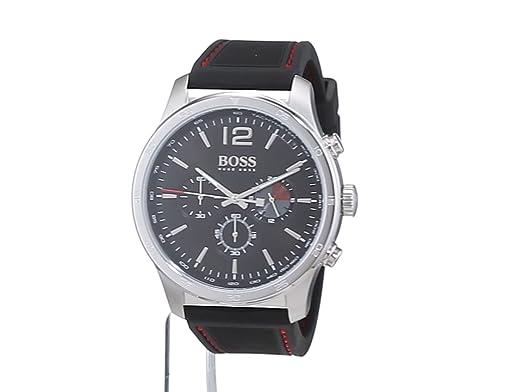 b9d43d64e2ed Hugo BOSS Reloj Cronógrafo para Hombre de Cuarzo con Correa en Silicona  1513525  Amazon.es  Relojes