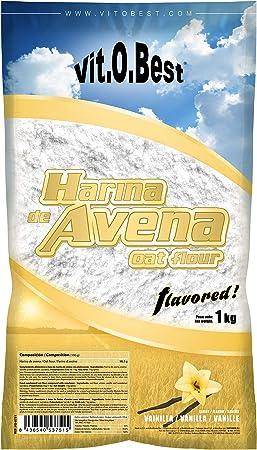 Harina de Avena Sabores Variados - Suplementos Alimentación y Suplementos Deportivos - Vitobest (Vainilla, 1 Kg)