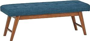Amazon Brand – Rivet Modern Haraden Upholstered Button-Tufted Bench, 44
