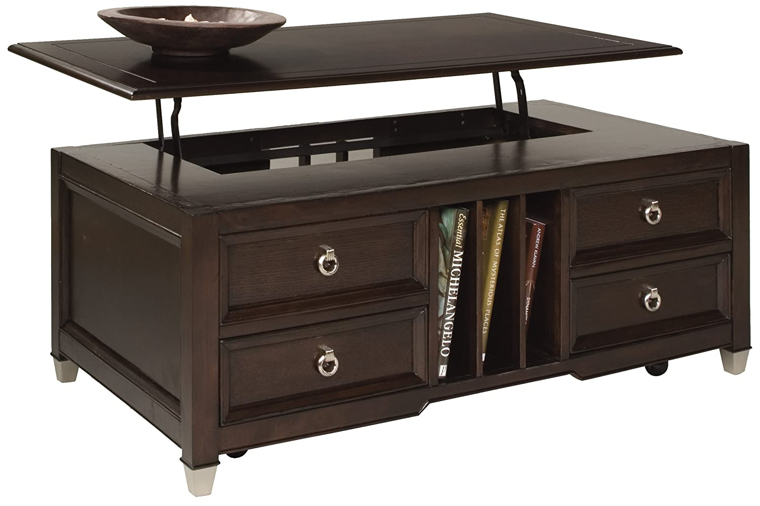 Amazoncom Magnussen Darien Wood Lift Top Cocktail Table Kitchen
