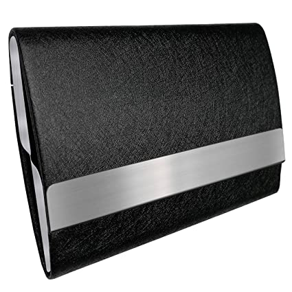 bolier business card holder leather business card case with magnetic shut holds 25 business - Leather Business Card Case