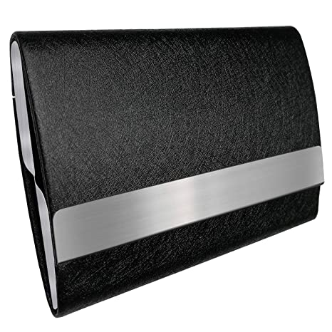 e59f4f146319 Bolier Professional Business Card Holder 100% Handmade Leather Business  Card Case for Men and Women (Double Sided Black)  Amazon.ca  Home   Kitchen