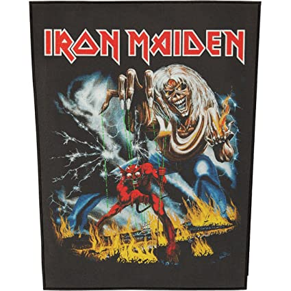 amazon com xlg iron maiden number of the beast back patch rock