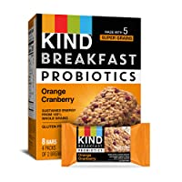 Deals on 32-Count KIND Breakfast Probiotic Bars Orange Cranberry