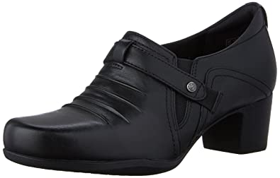 Clarks Rosalyn Nicole Womens Black Leather