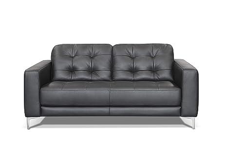 Divano Nero Moderno : Alkove divano in pelle modello holt stile moderno 2 posti colore