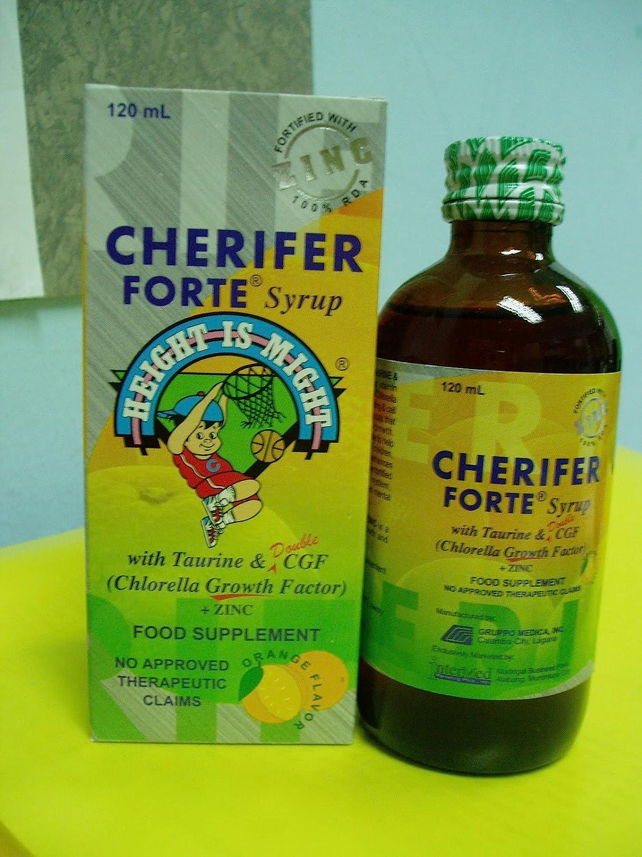 CHERIFER FORTE Syrup w Taurine Double Chlorella Growth Factor Zinc 120ml