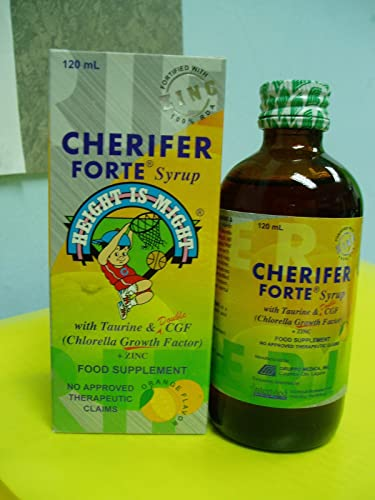 CHERIFER FORTE Syrup w Taurine Double Chlorella Growth Factor Zinc 120ml