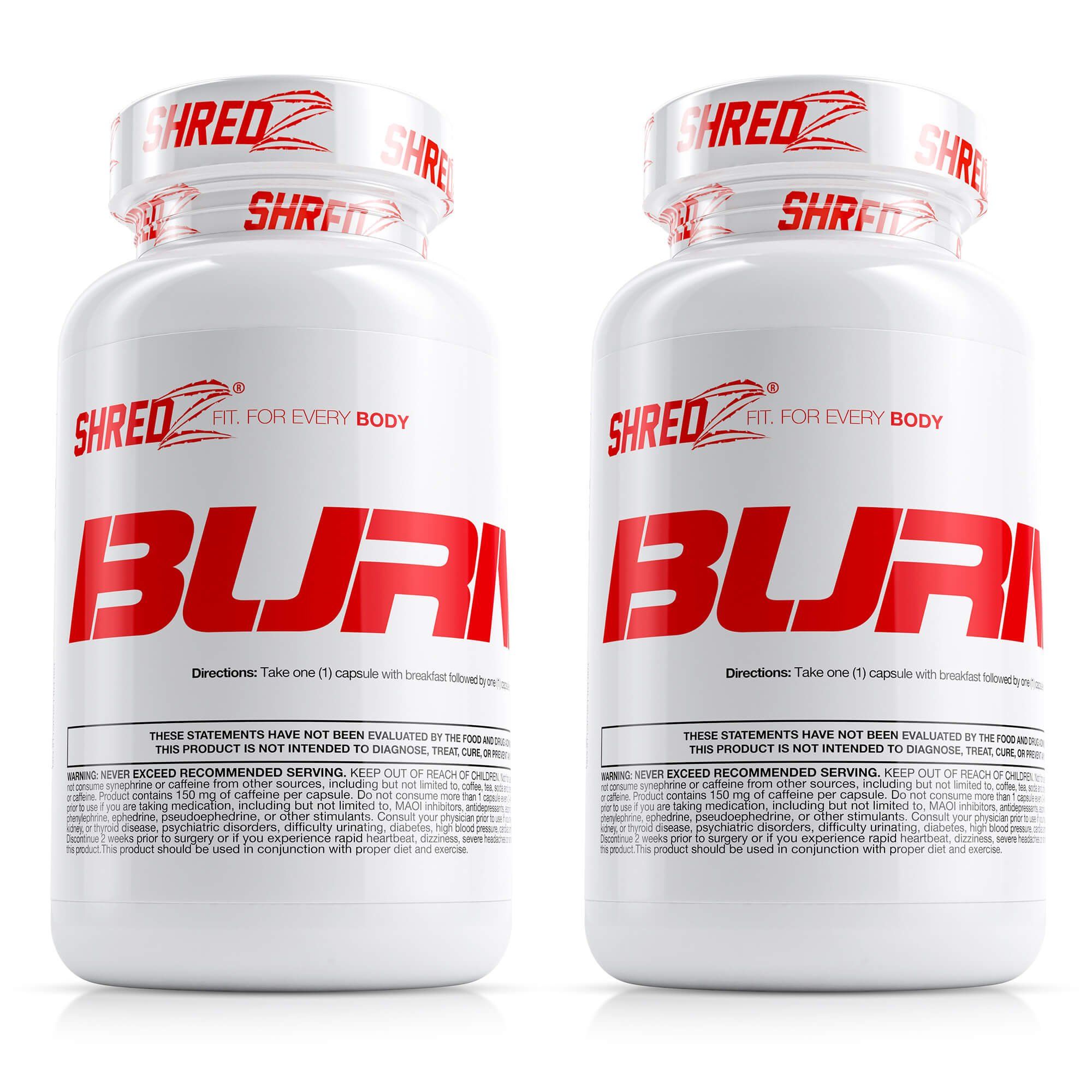 SHREDZ® Burner for Men (2 Months) – Lose Weight, Increase Energy, Best Way to Shed Pounds! 60 capsules
