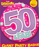 BIG BADGE 50 PINK by Expression Factory