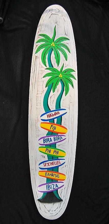 Diferentes señales Cartel de madera en tabla de surf Style ...