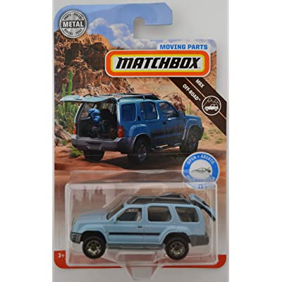 Light Blue 2000 Nissan Xterra 2020 Matchbox Moving Parts Off-Road Series 1:64 Scale Collectible Die Cast Metal Toy Car Model with Opening Hatchback: Toys & Games
