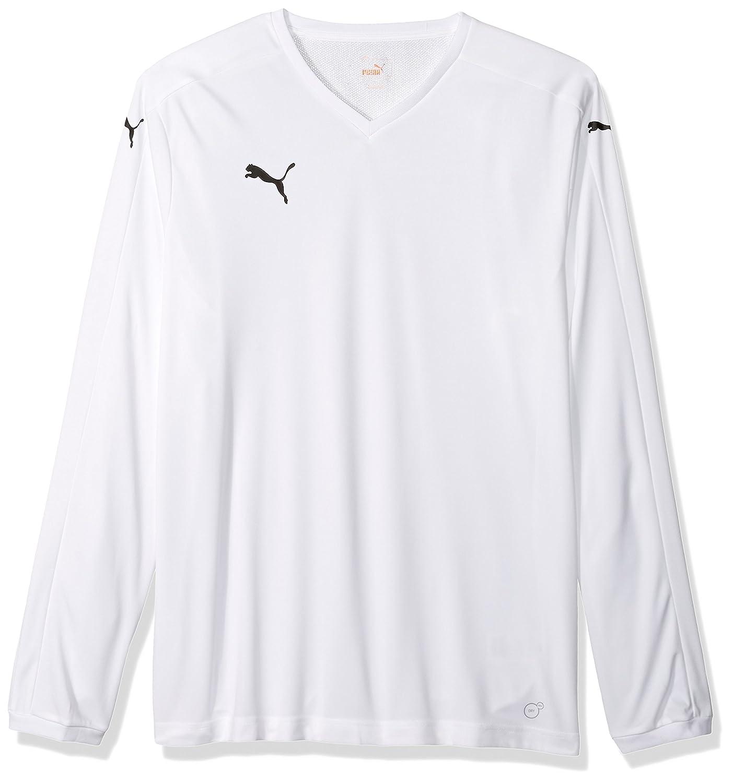 Pumaメンズピッチ長袖シャツ B00OW46Z54 Youth Medium|ホワイト/ホワイト ホワイト/ホワイト Youth Medium