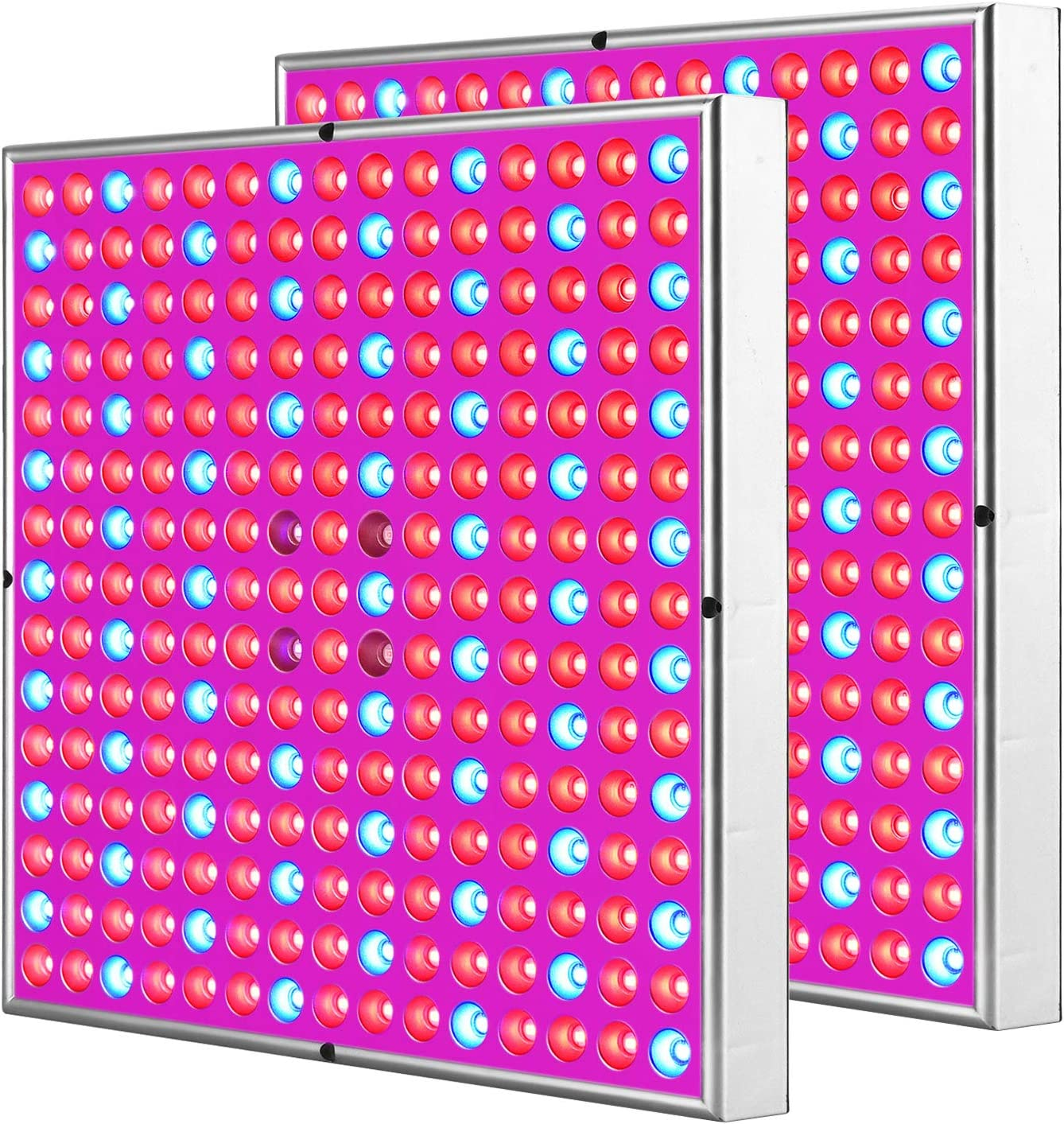 2 Pack Grow Light Panel Led Grow Lights for Indoor Plants Lights Hanging Red Blue IR Plant Lamp for Hydroponic Succulents Greenhouse Herbs Garden 2×225LEDs 2×45W High Power