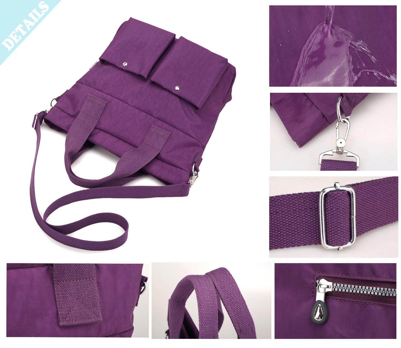 Women Nylon Shoulder Bag Satchel Handbag, Myhozee Water Repellent Travel Work Tote Bag Cross body Bag by Myhozee (Image #6)